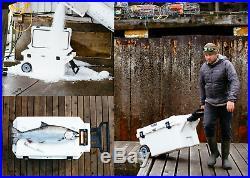 Pelican ProGear Wheeled Elite Cooler 80 Quart White ATV UTV Off road