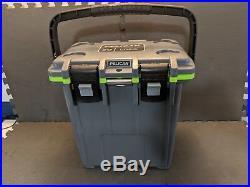 Pelican Products 20Q-1-DKGRYGRN 20 Quart Elite Cooler, Dark Grey/Green
