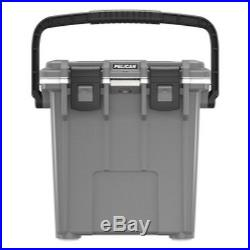 Pelican Products 20Q-1-DKGRYWHT 20 Quart Elite Cooler, Dark Grey/White