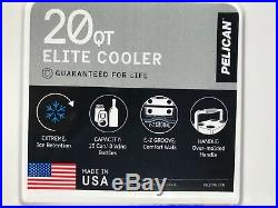 Pelican White Elite 20 Quart Cooler