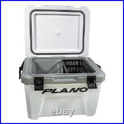 Plano Frost 21 Quart Heavy Duty Cooler with Built In Bottle Opener and Dry Basket