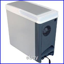 Portable 18 Qt Thermoelectric Cooler, 12 Volt Electric Compact Car Travel Fridge