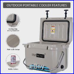 Portable Heavy Duty 22 Quart Insulated Beverage Can Cooler Ice Chest with Handle