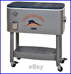 Portable Party Cooler Rolling Outdoor Patio Deck Ice Chest 77 qt Holds 100 Can