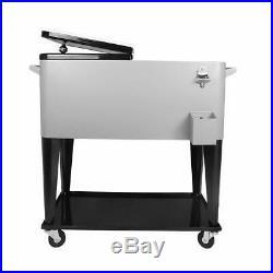 Portable Rolling Storage Cooler Cart Trolley Ratten Beer Cooler Cart On Wheels