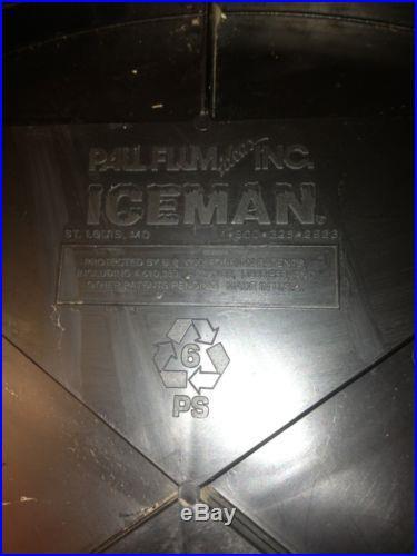 RARE ICEMAN 7 UP MAN CAVE ICE BARREL COOLER ADVERTISING