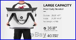 ROCKBROS Soft Cooler Leak Proof 40 Can Portable Soft Sided Cooler Soft Pack Bag