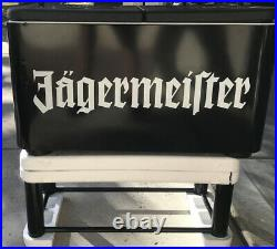 Rare Jagermeister Limited Edition Cooler on Stand With Wheels -LOCAL PICKUP ONLY