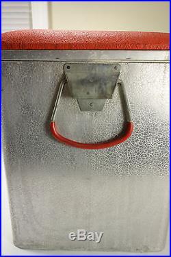 Rare Vintage Cronstroms Aluminum Canada Dry Advertising Cooler Chest Ice Box
