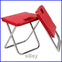 Red Multi Function Rolling Cooler Picnic Camping Outdoor with Table & 2 Chairs