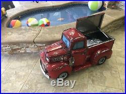 Red Vintage Ford Truck Cooler Vintage Cooler Oil Drum Art
