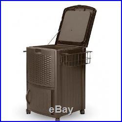 Resin Wicker Outdoor Furniture Patio Furniture Portable Refrigerator