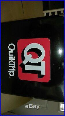 Retro QuickTrip QT Metal Picnic Classic Cooler 12 x 9 x 12