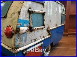 Retro Style Caravan Camper Cooler Modeled after a 1958 Shasta Towable Camper