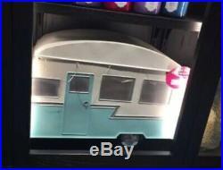 Retro Style Caravan RV Camper Cooler Metal Trunk Bath & Body Works Display NEW