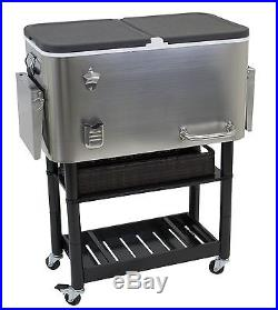 Rio Brands Entertainer Tall Rolling Party Cooler Rio Brands New