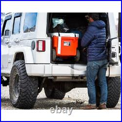 RovR RollR Portable Rolling Outside Insulated Cooler with Wheels, 60 Qt, Desert