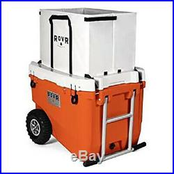 RovR RollR Rolling Outside Insulated Cooler with Wheels, 60 Qt, Desert(Open Box)