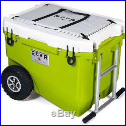 RovR RollR Rolling Outside Insulated Cooler with Wheels, 60 Quart, Moss(Damaged)