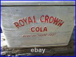 Royal Crown Cola Cooler Aluminum Vintage 1950's Rat Rod Ice Chest
