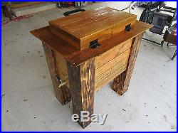 Rustic Cooler With Welded C-Clamp Handle