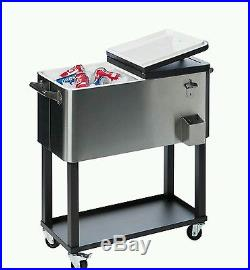 Stainless Steel Cooler Cart with Shelf