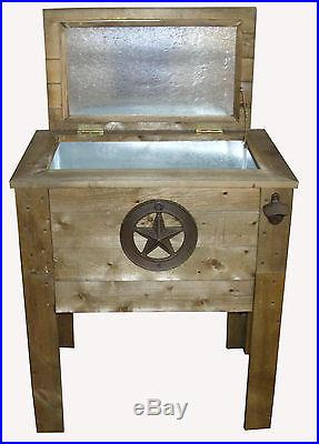 Star 57 Quart Patio Wooden Cooler