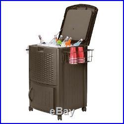 Suncast Cooler Box Resin Wicker 77 Quart