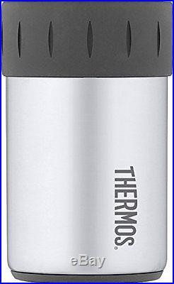 THERMOS Insulated Stainless Steel 12 oz Can Cooler durable Koozie FREE SHIPPING