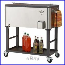TRINITY TXK-0803 Outdoor Cooler, 80 quart, Stainless Steel