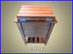 Tall Outdoor Wood Cooler Chest Ice Box Bottle Opener Deck Patio Coleman 30 Quart