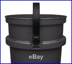 Three YETI LoadOut Buckets, 5 Gallon, Charcoal, Ultra Durable