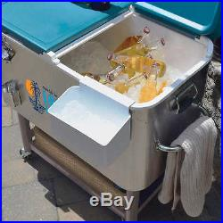 Tommy Bahama 100 Quart Stainless Steel Rolling Cooler