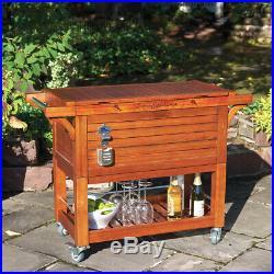 Tommy Bahama 100 qt Wood Rolling Cooler