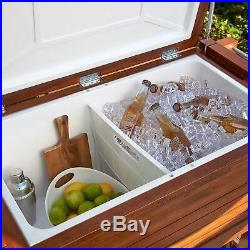 Tommy Bahama 130 Can Cooler 100 Quart Rolling Cooler Party Chest Portable