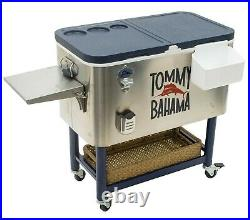 Tommy Bahama Rolling 130 Can Stainless Steel Party Cooler 100 Quart Ice Chest