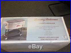 Tommy Bahama Rolling Stainless Steel Party Cooler 100 Quart NIB free shipping