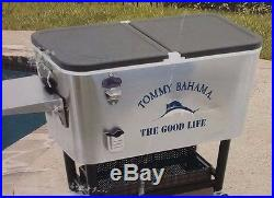 Tommy Bahama Stainless Steel Ice Chest Patio Cooler 100Qt The Good Life