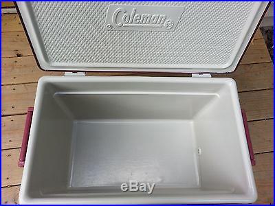 VINTAGE COLEMAN STEEL BELTED COOLER RARE BROWN/BURGUNDY