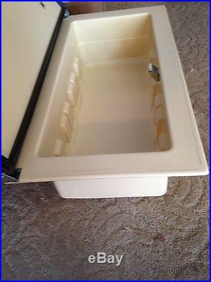 VINTAGE VAN RV CAMPER MOTORHOME TABLE TOP ICE BOX COOLER INSERT NEW OLD STOCK