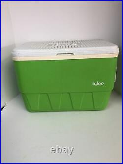 VTG Igloo 25 QT Cooler Lime Green 70s 80s Complete with tray handles