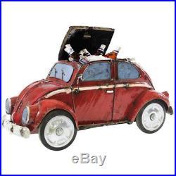 VW Beetle Red Handmade & Recycled Beverage Cooler