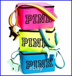 Victorias Secret Pink LIMITED EDITION Beach Cooler & Mini Dog Key Chain PINK NWT