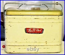 Vintage 1950s Knapp Monarch Therma-Crest Metal Cooler