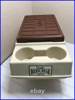 Vintage 1982 Igloo Little Kool Rest Car Cooler Butterscotch Console Car Chest