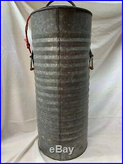 Vintage / Antique Igloo 5 gallon Galvanized Water Cooler Made In Houston TX 28