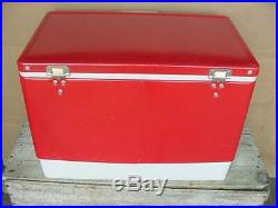 Vintage Coleman Coca Cola Cooler Ice Chest Advertising Picnic Cooler Camping