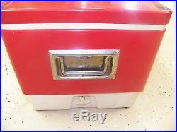 Vintage Coleman Red Steel Cooler
