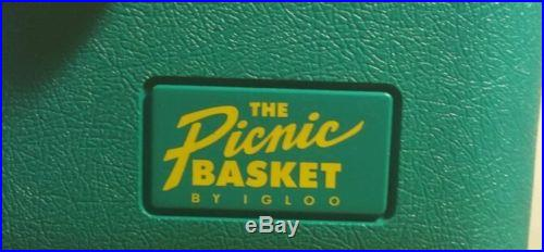Vintage Cooler The Picnic Basket By IGLOO 1996 Excellent Cond Retro Made in USA