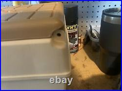 Vintage Igloo Little Kool Rest Car Cooler Console Ice Chest Cup Holder Brown Tan